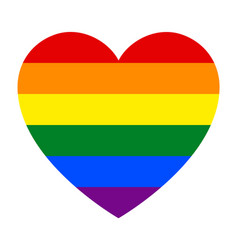 Flag pride lgbt in heart with hand vector