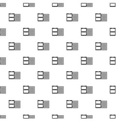 Fridge pattern seamless vector