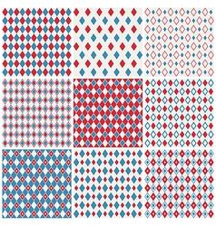 Harlequin patterns vector