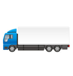 heavy truck on a white background vector image