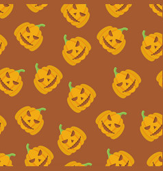 Holiday seamless halloween pattern vector