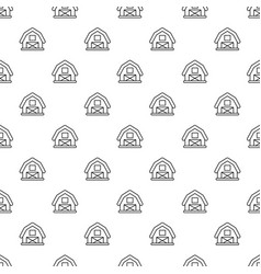 horse barn pattern seamless vector image