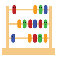 image an abacus or color vector image