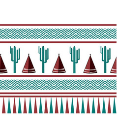 indian tribal background simple flat wigwam vector image
