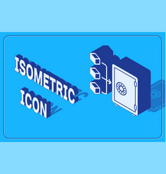 Isometric prostake icon isolated on blue vector