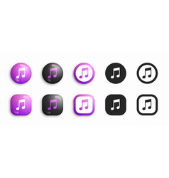 itunes modern 3d and flat icons set vector image