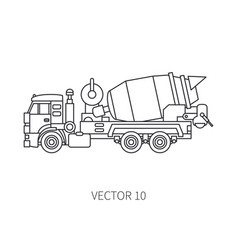 line icon construction machinery truck vector image