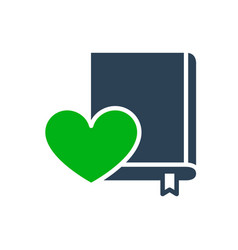 love diary colored icon heart with book love vector image