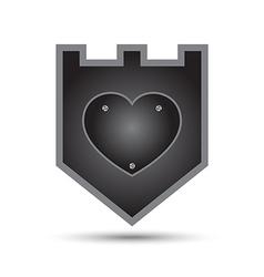 Love Heart Iron Shield vector
