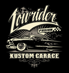 lowrider pasion vector image