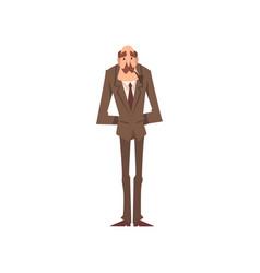 Mature victorian gentleman cartoon character vector