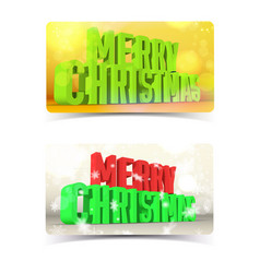 merry christmas banners concept vector image