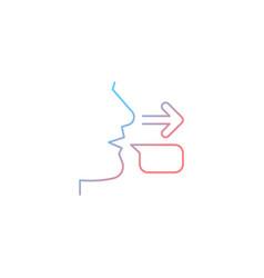 Message sender gradient linear icon vector