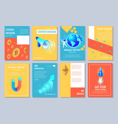 multicolored vertical banners set with copy space vector image