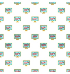 Online donation pattern cartoon style vector image