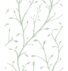 Ornamental plant with leaves seamless pattern vector