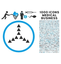 Outside Direction Icon with 1000 Medical Business vector image