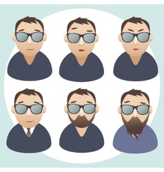 portraits of men wearing spectacles vector image