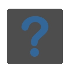Question flat cobalt and gray colors rounded vector