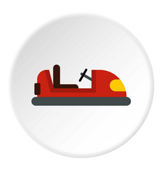 Red bumper car icon circle vector