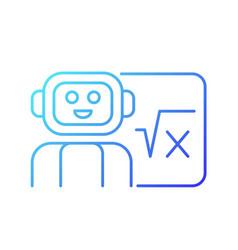 Robotics in education gradient linear icon vector