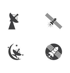 satelite icon design vector image
