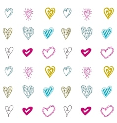 Seamless pattern with hearts for Valentines days vector image