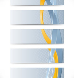 Set of business cards with golden stripe vector image