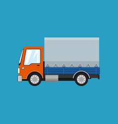 Small covered truck isolated vector