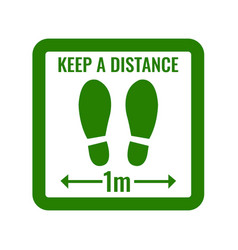 social distancing keep distance white background vector image