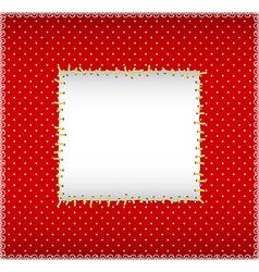 Stitched sqare frame vector