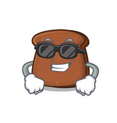 super cool brown bread character cartoon vector image