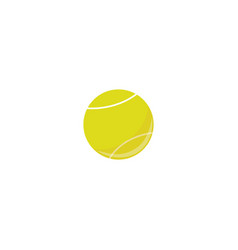 tennis ball sport equipment simple icon vector image