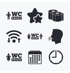 Toilet paper icons Gents and ladies room vector image