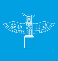 totem pole icon outline style vector image