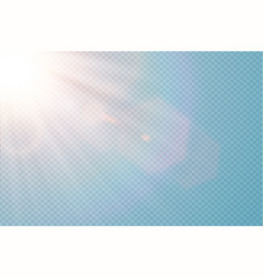 transparent sunlight special lens flare vector image