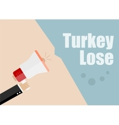 Turkey lose Flat design business vector