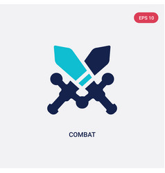 Two color combat icon from army and war concept vector