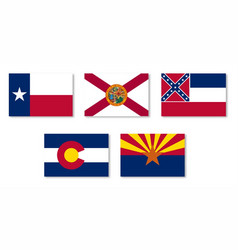 united states state flag collection vector image