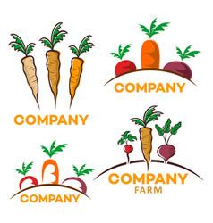 useful vegetables logo vector image
