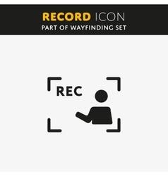 video Rec Icon vector image