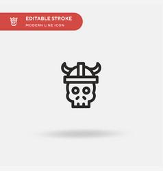 viking simple icon symbol vector image