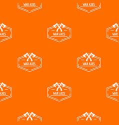 war axe pattern orange vector image