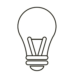 Bulb idea intelligence light outline vector