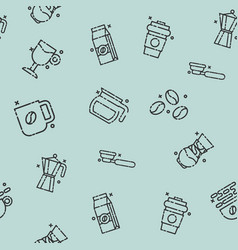 coffee concept icons pattern vector image vector image