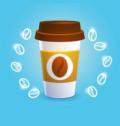 coffee take away cup break breakfast drink vector image vector image