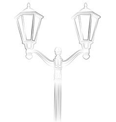 Streetlight on white background vector image