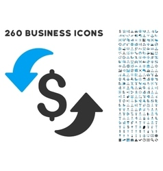 Update Cost Icon with Flat Set vector image