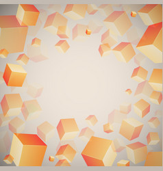 Abstract 3d cubes pattern vector