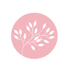 flower branch natural icon vector image vector image